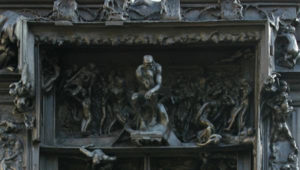 La porta dell'Inferno di Rodin (particolare)