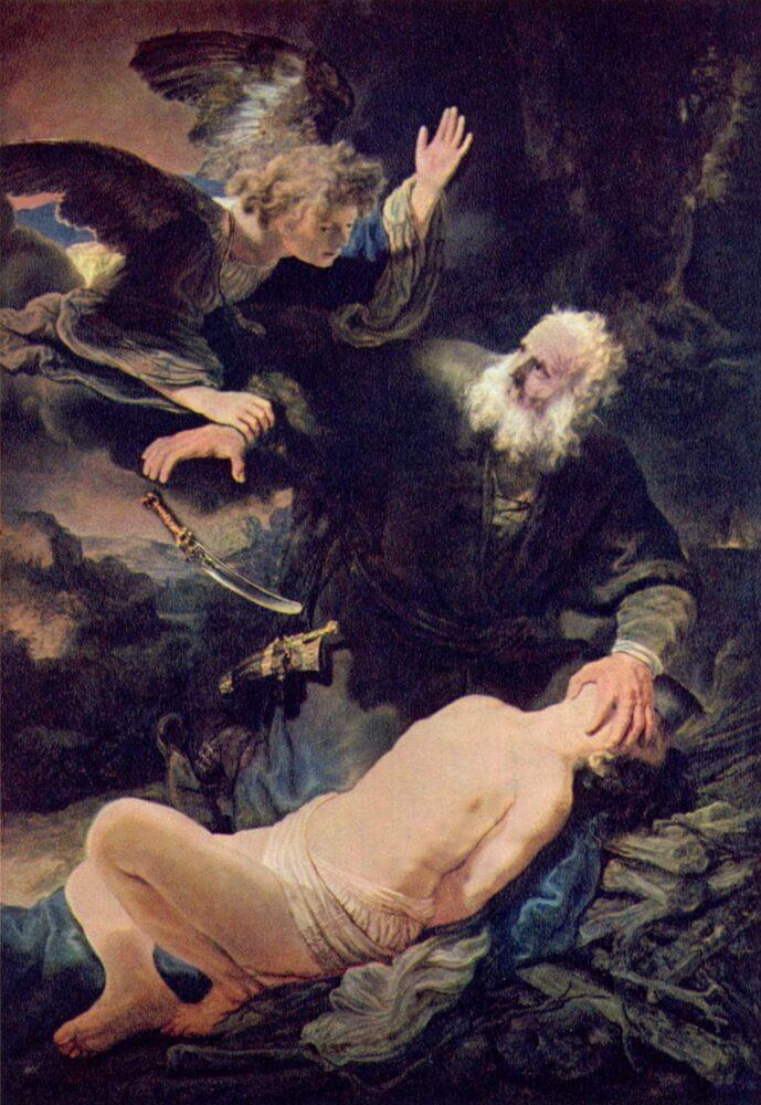 Rembrandt, Sacrificio di Isacco, 1635, San Pietroburgo, Museo dell'Ermitage