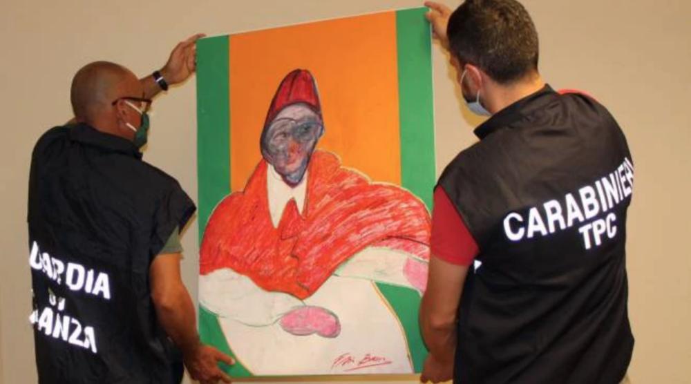 Uno dei quadri attribuiti a Bacon sequestrati a Bologna