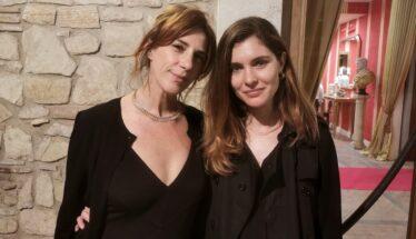 Vittoria Puccini, presidente di UNITA, con Claudia Coli, membro dell'associazione, all'Umbria Cinema Festival