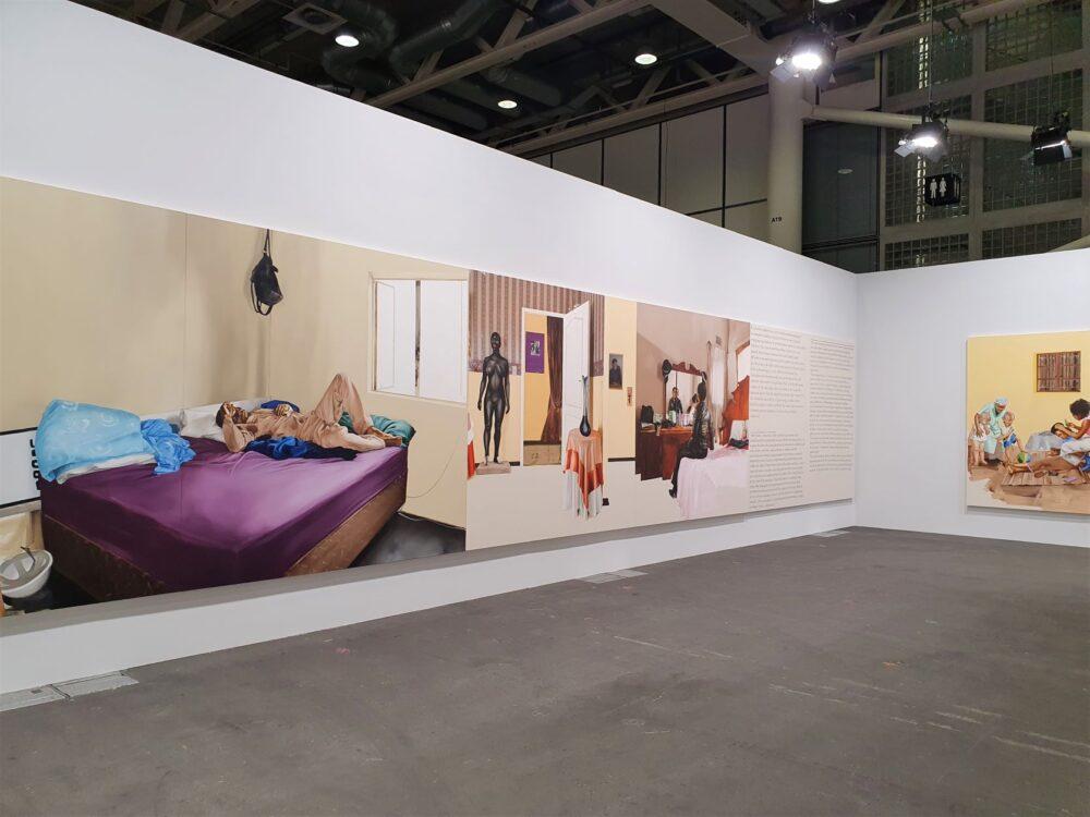 Meleko Mokgosi, Bread, Butter, and Power , 2018