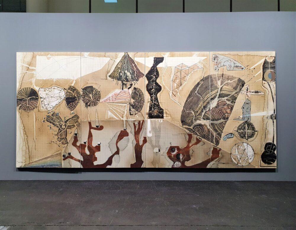 Jitish Kallat, Palindrome/Anagram Painting, 2018-2021