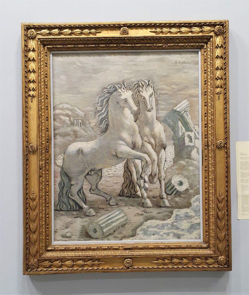 De Chirico, Cavalli in riva al mare del 1927, da Farsetti