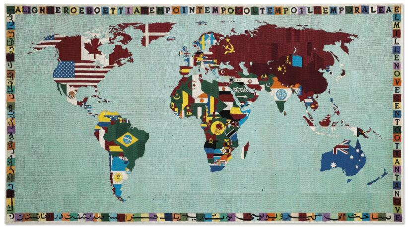 Alighiero Boetti, Mappa (1988-89, estimate: £1,200,000-1,800,000)
