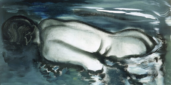 Losing (Her Meaning), 1988, oil on canvas, 50 x 70 cm, courtesy Pinault Collection. Paris, France- Copyright work and courtesy image: Marlene Dumas. Credits photography: Peter Cox, Eindhoven