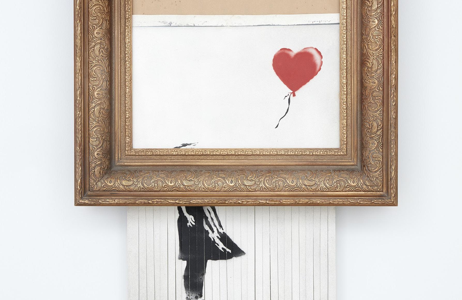 Il Banksy tritato torna all'asta. Sotheby's presenta Love is in the Bin