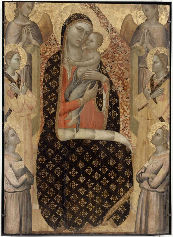Allegretto Nuzi, Madonna col Bambino in trono e sei angeli, tempera su tavola. Avignone, Musée du Petit Palais.