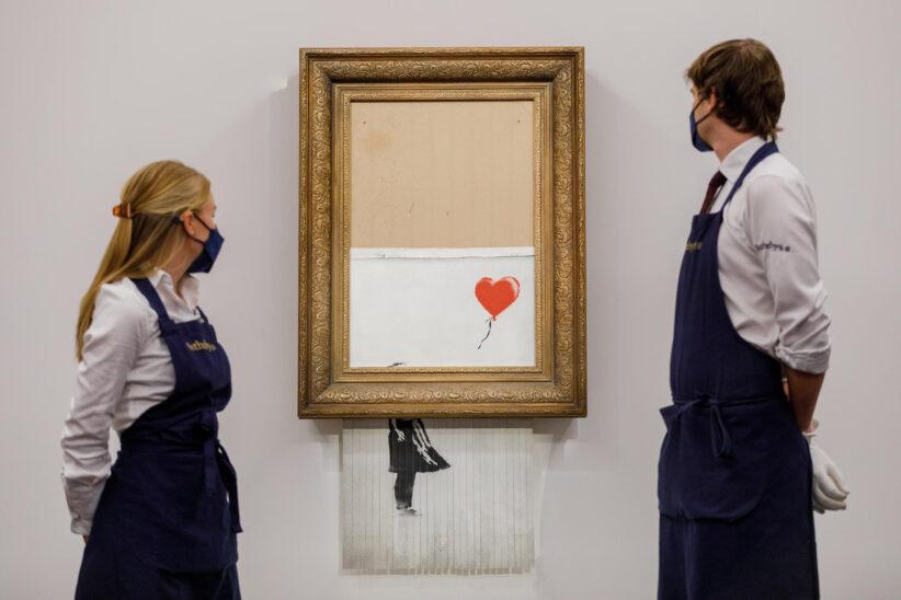 Banksy, Love is in the Bin, courtesy Sotheby's