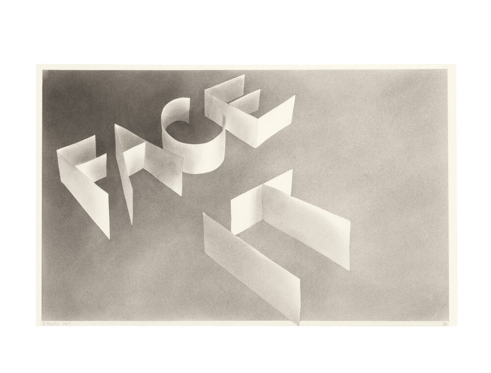 Ed Ruscha, Face It, 1967