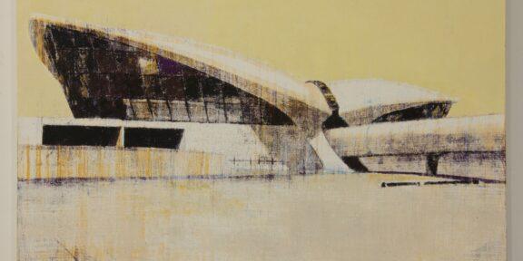 Enoc Perez TWA Terminal, Kennedy Airport 2006 olio su tela / oil on canvas 76,2 x 106,7 cm Courtesy and © Enoc Perez