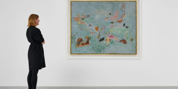 Arshile Gorky, Untitled (Virginia Summer) ca. 1946–47. Photo by Jon Etter, ©the Arshile Gorky Foundation/Artists Rights Society, courtesy the Arshile Gorky Foundation and Hauser and Wirth.