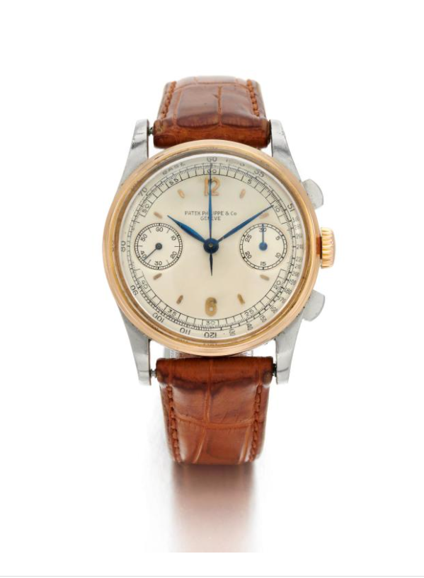 Patek Philippe, Ref 130 Stainless Steel And Yellow Gold Chronograph Wristwatch Made in 1941 (Ref 130 Cronografo in acciaio e oro giallo 1941). Estimate: 60,000 - 80,000 EUR