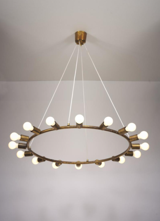 Gino Sarfatti, Rare Ceiling Light Model No. S00106 composed by 16 point lights. Estimate: 30,000 - 50,000 EUR