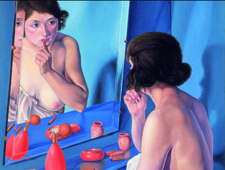Cagnaccio di San Pietro, Donna allo specchio, 1927. Olio su tavola. Collezione della Fondazione Cariverona (Archivio fotografico della Fondazione Cariverona)