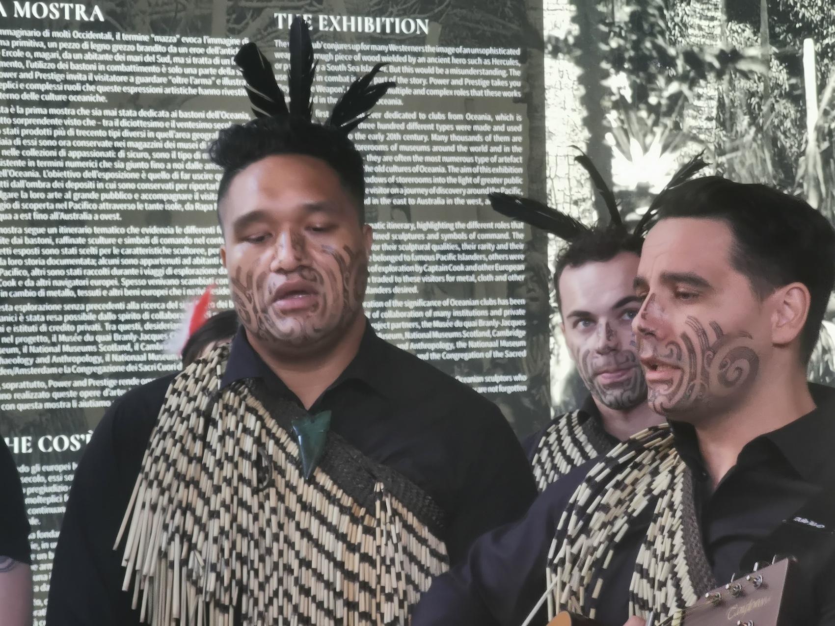 Haka Haka a Venezia. Spettacolo Maori a Venezia alla preview della mostra Power & Prestige