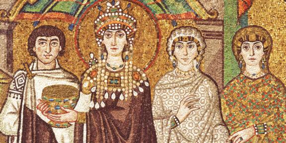 Mosaico della basilica di San Vitale a Ravenna, particolare