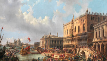 Luigi Querena (1824-1890) The Blessed Doge Francesco Morosini leaves Venice in the Year 1693 to fight the Turks at the Peloponnese € 200,000-300,000