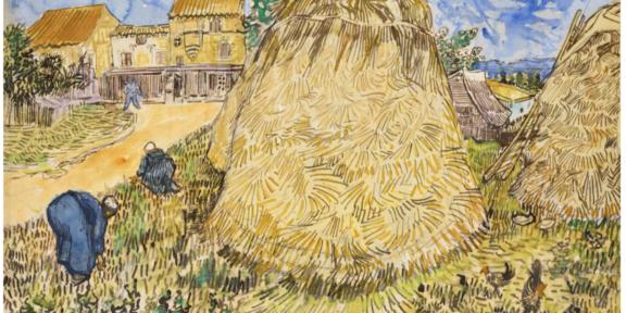 Vincent Van Gogh,Meules de blé, 1888.