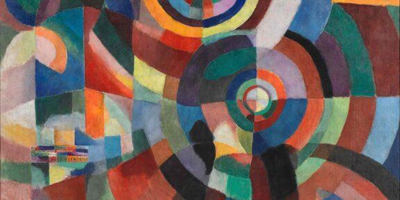 Sonia Delaunay, Electric Prisms (Prismes électriques), 1914, Oil on canvas, 250 x 250 cm. Purchased by the State, 1958, Attributed, 1958, Centre Pompidou Collection, Paris, Musée national d'Art moderne – Centre de création industrielle. Image © Centre Pompidou, MNAM-CCI/ Philippe Migeat/Dist. RMN-GP © Pracusa S.A.