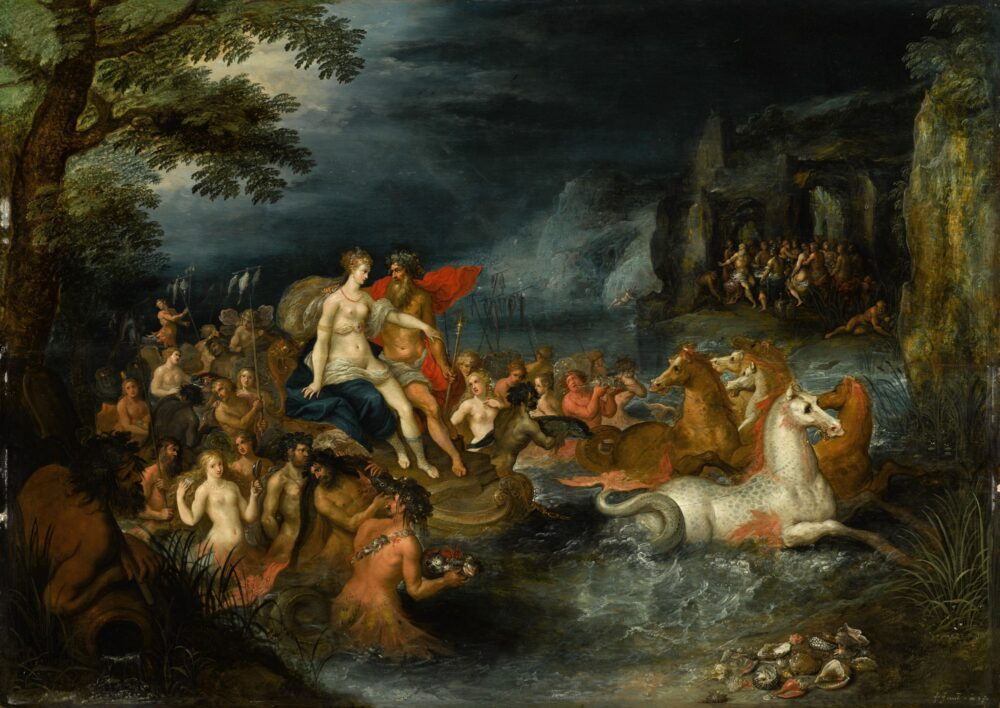 Frans Francken The Younger (1581 - 1642), The Triumph of Neptune and Amphitrite, Panel: 53.6 x 75.2 cm Signed lower right: f · franck · iN F fe - DE JONCKHEERE