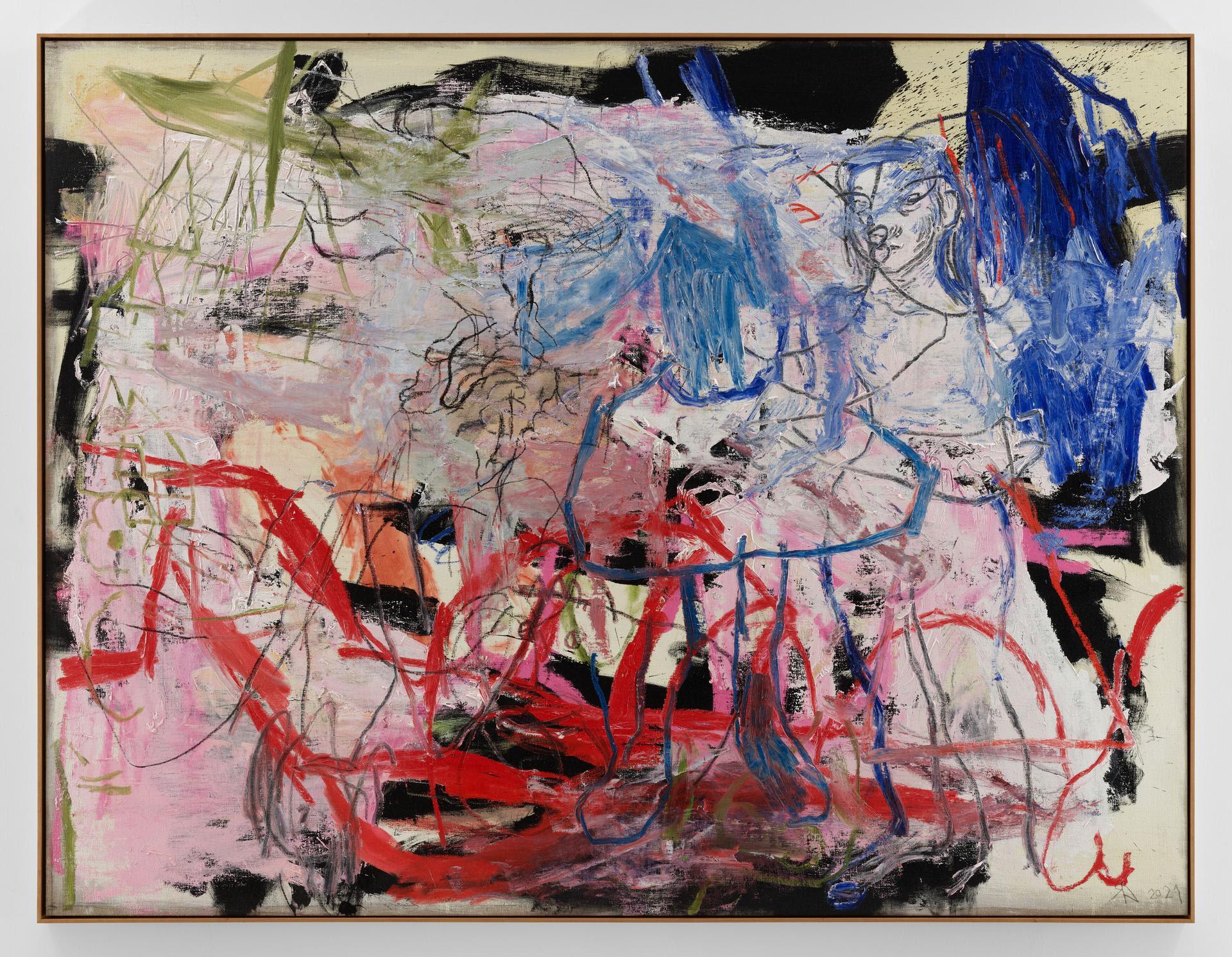 Rita Ackermann porta la sua pittura inconoscibile e innominabile da Hauser & Wirth Monaco